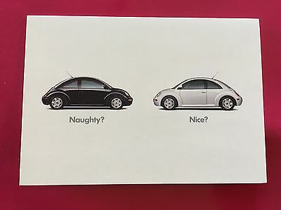 "VW Volkswagen ""Naughty? Nice?"" 1998 Tent Card"