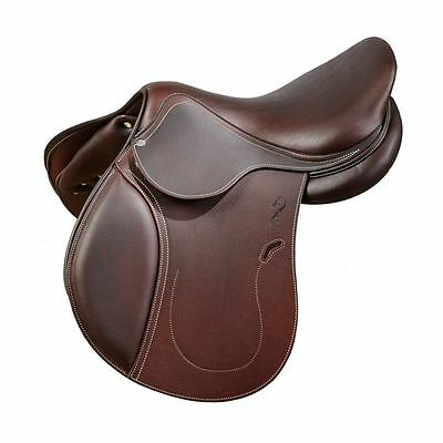 """New Jump Close Contact Leather Saddle With Tack Set  15 """"16 17 18"""