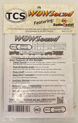 TCS DCC WOW Sound, Steam, Light, Medium & Heavy with Keep Alive