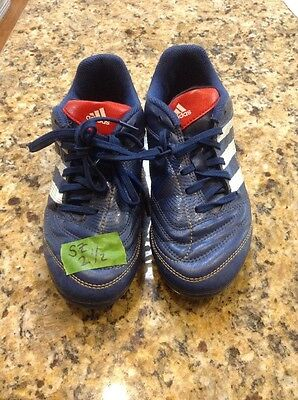 Adidas blue cleats boys youth size 2 1/2