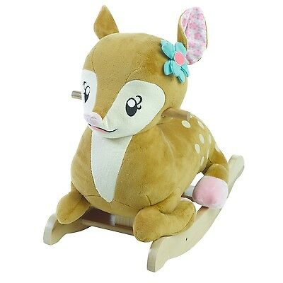Rockabye Petals The Fawn Rocker Critters Collection Ride On Toy