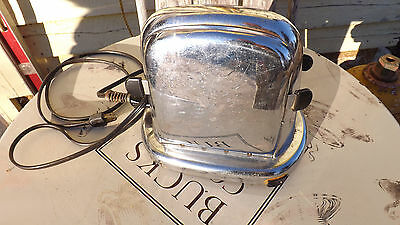 Antique Manning and Bowman Toaster with Solid sides that OPEN up. ELECTRIC DECO