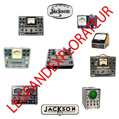 Ultimate Jackson Tube Tester Owner & Service Manuals Schematics Chart PDF on DVD