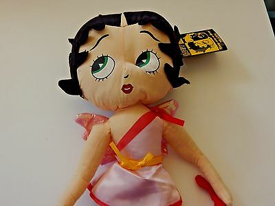 "Betty Boop Cupid Bow Arrow 16.5"" Soft Cloth Doll Kellytoy Collect Valentine 2007"