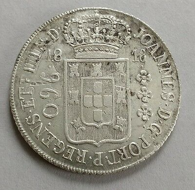 Brazil 960 reis 1816 struck over 8 reales Mexico
