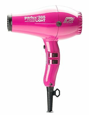 Parlux 385 Professional Power Light Ionic Ceramic Hairdryer Hot Pink (USED TWICE