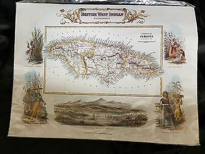 British West Indian Possessions Island Of Jamaica Map A. Fullerton G.h. Swanston