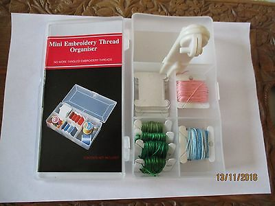 Embroidery thread organiser and winding tool
