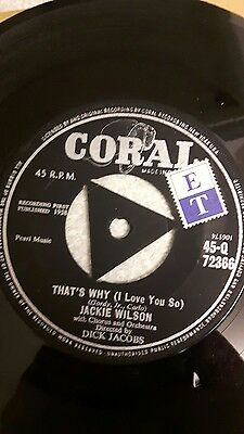 jackie wilson vinyl 45rpm thats why i love you so