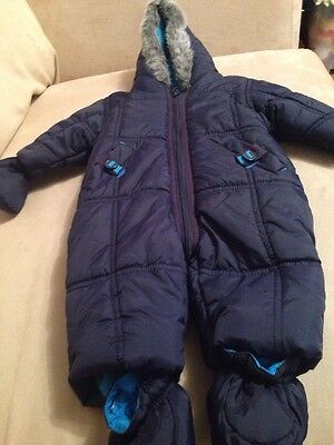 Mini Club Boots Baby Snow Suit / Winter all in one coat size 0-3 Months Bnwot