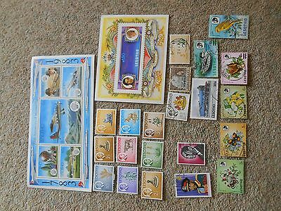 Stamps Africa Lesotho Mint And Used Lot