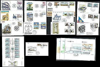 Cept Europa 1987 FDC ANNATA COMPLETA first day year complete collection ALL