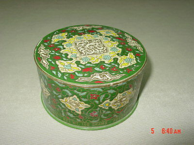 Vintage Emeraude Dusting Powder Coty Empty No Box Art Deco Round Colorful
