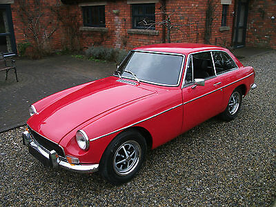 MGB GT, 1970, Chrome Bumpers, Tax Exempt, Tartan Red