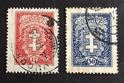 2 old stamps from Lithuania / Lietuva / Литва / Litauen
