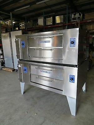 Bakers Pride DS-805 Super Deck Double Stack Natural Gas Pizza Oven