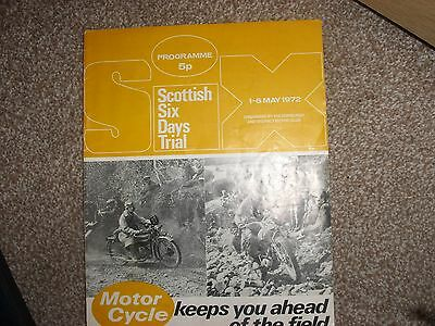 Motorcycle programme scottish six days trial May 1972