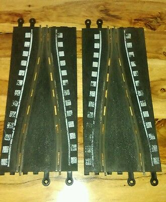 Scalextric Classic Track 1:32 scale Short Chicane 2x PT74 Checkered markings