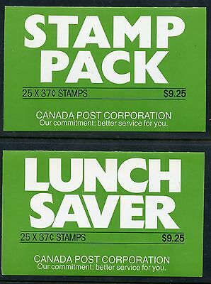 Weeda Canada BK98a&b VF complete booklets, Stamp Pack & Lunch Saver CV $55