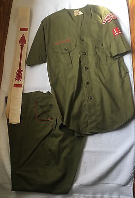 Vtg Mid Century Boy Scouts or Scout Master Shirt Pants Order Arrow Uniform GA