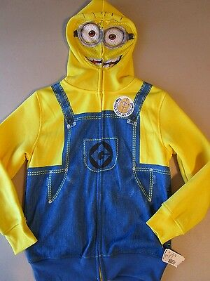 Despicable Me Minion Masked Hoodie Size Small New With Tags