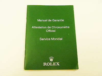 ROLEX Watch Certificate Translation Instruction Booklet - FREE SHIPPING