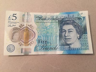 Bank of England £5 Note Number AA56 231717