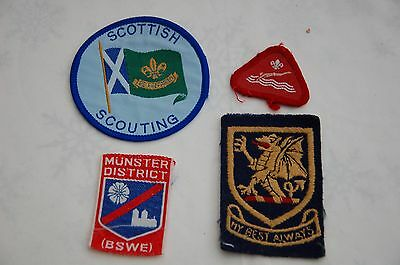4 Vintage Scouts Cloth Patches/Badges