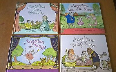 Angelina ballerina book collection  (set of 4)
