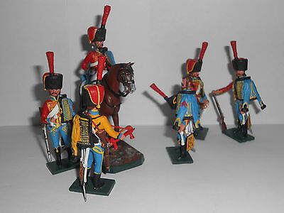 54mm Napoleonic French 9th Hussar Regiment  1812, toy soldiers.