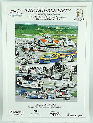 Double Fifty 50 Years Porsche Watkins Tim Berry Car Event Illustrated Poster