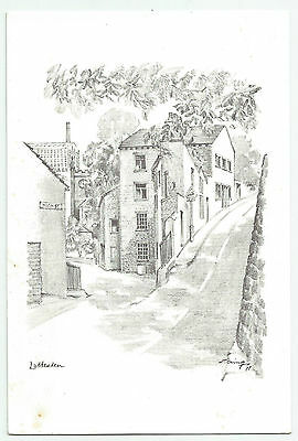 Unused Pencil Sketch PC of Luddenden in West Yorkshire