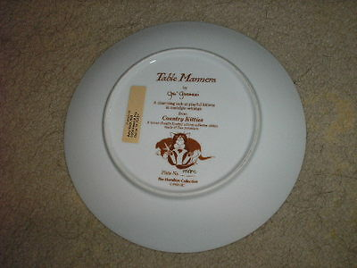 1988 Hamilton Collection Country Kittens Plate (Ll@@k ! )