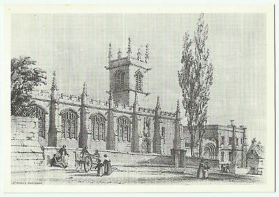 Unused Pencil Sketch PC of St Olave's, Marygate, York, Yorkshire
