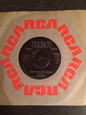 "Samson - Riding With The Angels - UK 7"" Single - Heavy Rock"
