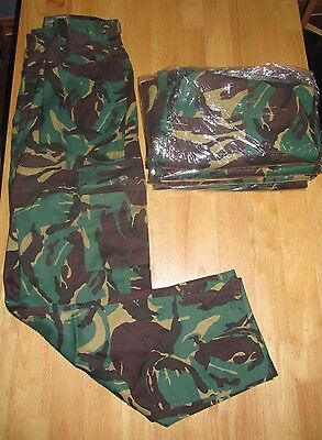 6 X Woodland Green Lightweight Combat Trousers Sizes 32/34 New With Defect