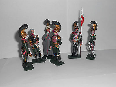 54mm Napoleonic French 3rd Regiment Chevau-legers 1812, toy soldiers.