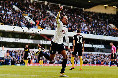 DELE ALLI TOTTENHAM HOTSPUR HAND SIGNED PHOTO AUTHENTIC GENUINE + COA - 12x8