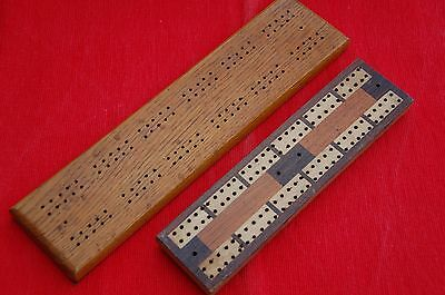 2 Vintage Cribbage Boards