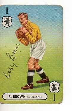Bobby Brown, Glasgow Rangers & Scotland signed card