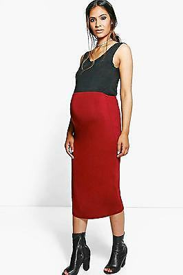 NEW Boohoo Womens Maternity Casey Over The Bump Pencil Skirt