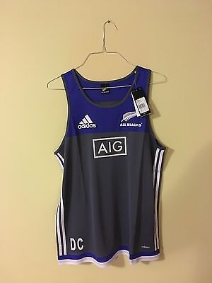 2 New Zealand Allblacks 2016/17 Players Issue Singlet/vest - Size L Personalised