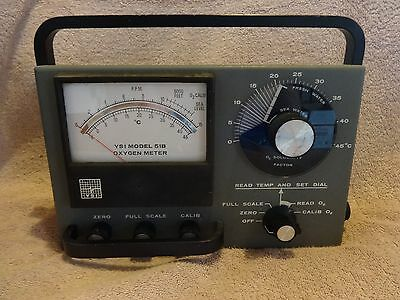 YSI Yellow Springs Oxygen Meter Model 51B With Probe