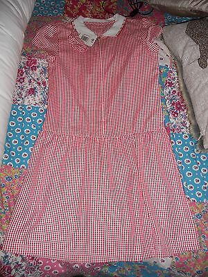 Matalan - Red Checked School Dress - Age: 10 Years - Bnwt