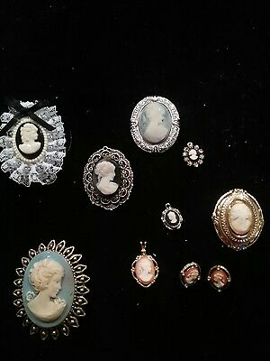 vintage lot of cameos