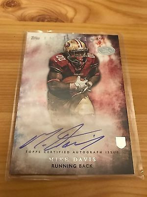 2015 TOPPS INCEPTION MIKE DAVIS 49ers RC AUTO