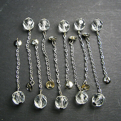 """Replacement 2.5"""" Crystal Bell Clappers Set of 10"""