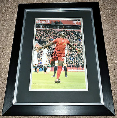 SADIO MANE LIVERPOOL FC HAND SIGNED FRAMED PHOTO AUTHENTIC GENUINE + COA - 18x14