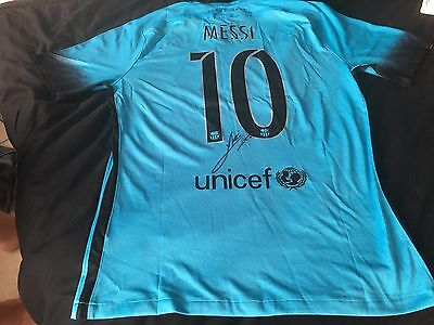 signed MESSI Barcelona Football Shirt With Certification Of Authenticity.