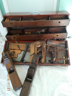 Vintage Carpenters Toolbox  Complete With All Tools